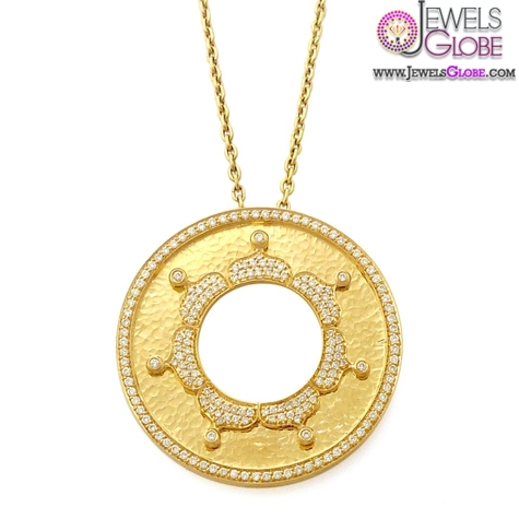 Golden-Light-Sun-Diamond-and-Gold-Pendant The 29 Most Popular Gold Pendant Designs For Women