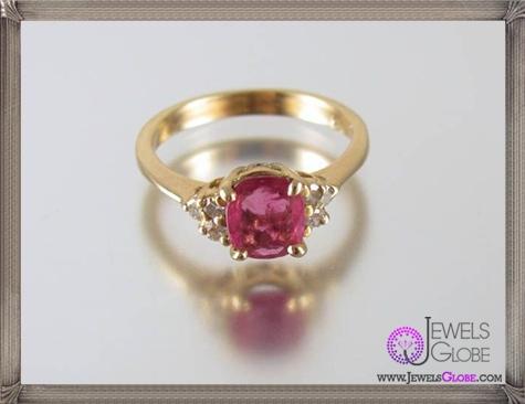 Gorgeous-14k-yellow-gold-genuine-ruby-diamond-ring 32+ Most Elegant Genuine Ruby Rings For Women