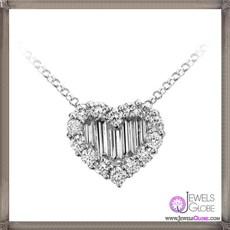 Gregg-Ruth-18-Karat-White-Gold-Diamond-Heart-Pendant The 28 Best Diamond Heart Necklaces & Pendants For Women and Buying TIPS