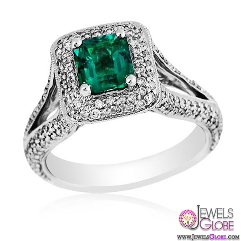Gregg-Ruth-18-Karat-White-Gold-Diamond-and-Emerald-Ring A Quick Way to Get Cheap Emerald Rings For Sale