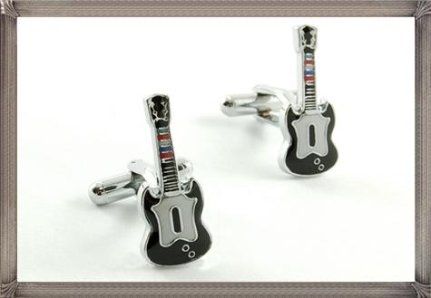 Guitar-One-Pair-Personalised-Cufflinks-For-Men personalised cufflinks for men