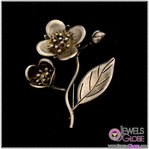 HECTOR-AGUILAR-STERLING-SILVER-FLOWER-BROOCH Buying Sterling Silver Brooches and Pins Online
