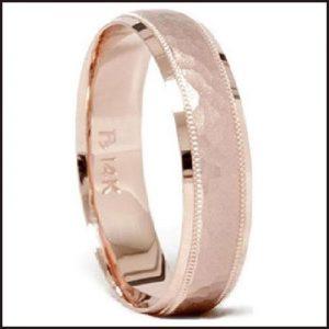 Hammered-Rose-Gold-Mens-Wedding-Ring-Band-300x300 Men's Hammered Wedding Bands: Choose Best Designs