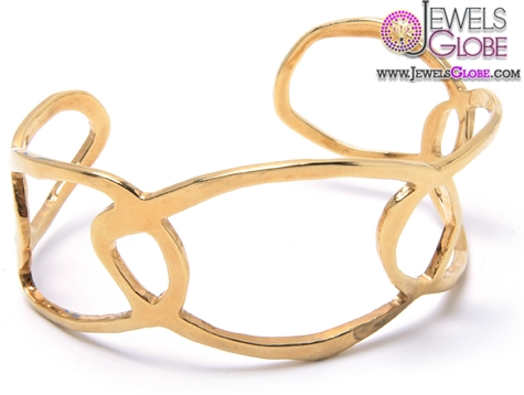 Hand-crafted-cuff-bracelet-Wide-18k-gold-Plated 35 Hot Cuff Bracelets For Women