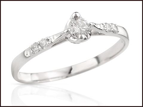 Heart-Ring-With-Genuine-Diamonds-in-14K-White-Gold 14K White Gold Engagement Rings: Top Designs