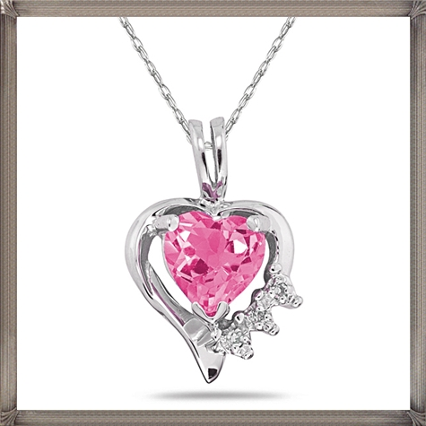 Heart-Shaped-Pink-Topaz-Diamond-Pendant-Sterling-Silver How to Choose and Buy Most STYLISH Pink Diamond Necklace Designs