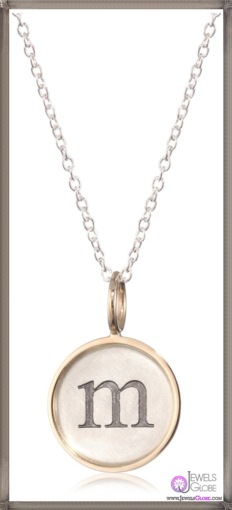 Heather-B.-Moore-Easy-Add-Ons-Letter-M-Silver-14k-Gold-Pendant-Necklace Best Heather B. Moore Jewelry Designs