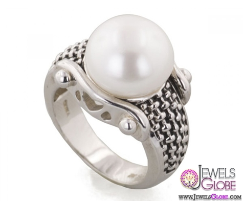 Honora-Sterling-Silver-White-Pearl-Ring Top Pearl Rings For Sale