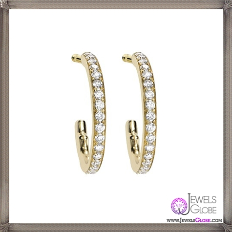 Hoop-Earrings-with-pave-diamonds These Are The BEST 32 Diamond Hoop Earrings You'll See (Plus Shopping Tips)