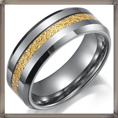 Impressive-RNB-Mens-Tungsten-Ring-Wedding-Band-8mm-Gold-Silver 5 CRITICAL Tips You Should Keep in Mind When Buying Men's Silver Wedding Bands