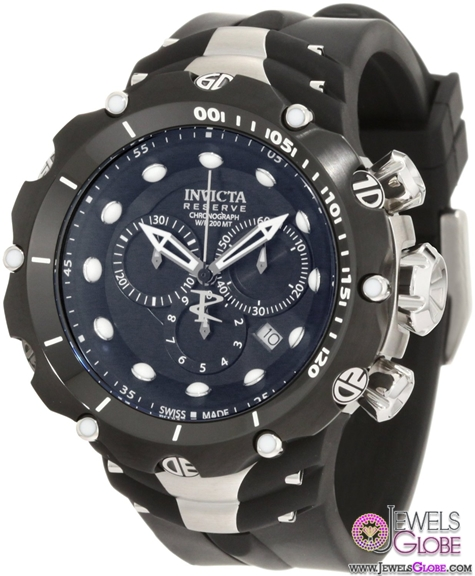 Invicta-Mens-Reserve-Venom-II-Black-Dial-Watch Stylish Invicta Watches For Men