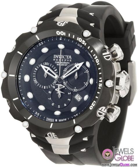Invicta-Mens-Reserve-Venom-II-Black-Dial-Watch Stylish Invicta Watches For Men