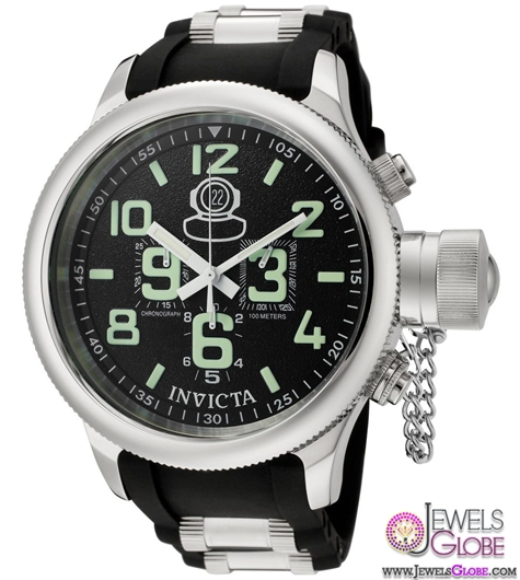 Invicta-Mens-Signature-Russian-Diver-Quinotaur-Chronograph-Black-Face Stylish Invicta Watches For Men