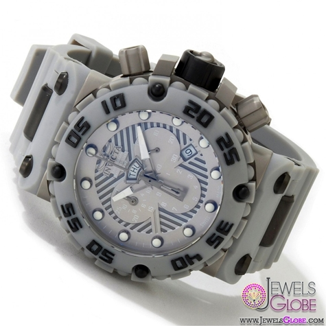 Invicta-Watches-Mens-Subaqua-Nitro-Collection-Chronograph-Grey-Polyurethane-Swiss-Made-Watch Stylish Invicta Watches For Men