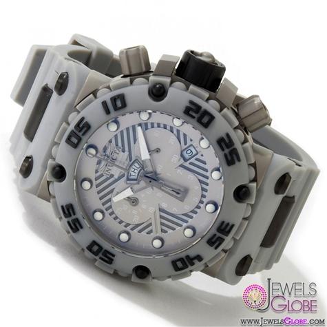 Invicta-Watches-Mens-Subaqua-Nitro-Collection-Chronograph-Grey-Polyurethane-Swiss-Made-Watch Stylish Invicta Watches For Men