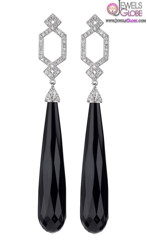 Ivanka-Trump-Black-Onyx-and-Diamond-Earrings Latest Fashion Black Diamond Earrings For Women