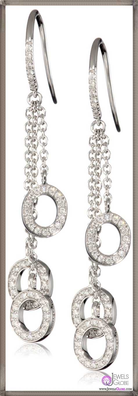Ivanka-Trump-Downtown-Signature-Earrings-with-White-Diamond-Drops Ivanka Trump Jewellery Collection