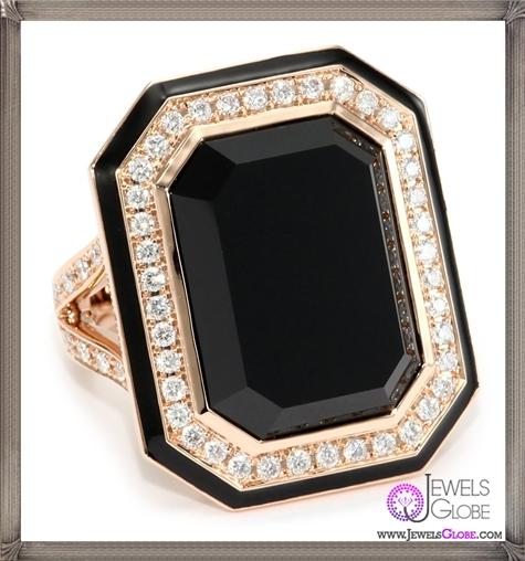 Ivanka-Trump-Octagonal-Cocktail-Ring-with-Black-Onyx-and-Diamonds Ivanka Trump Jewellery Collection