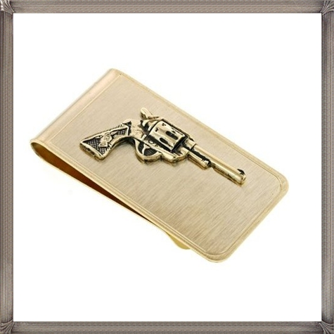 JJ-Weston-gold-plated-money-clip-with-revolver-gun-or-pistol-accent The 25 Most Popular Gold Money Clip Designs