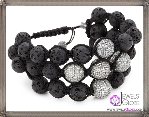 Jordan-Alexander-3-Strand-Lava-with-5-Pave-Diamond-Beads-Bracelet Jordan Alexander Jewelry and Where To Buy Best Designs