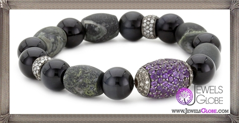 Jordan-Alexander-Jasper-with-Tiger-Eye-and-Pave-Amethyst-Bead-Bracelet Jordan Alexander Jewelry and Where To Buy Best Designs