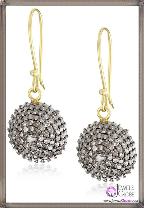 Jordan-Alexander-Pave-Diamond-Half-Ball-Earrings Jordan Alexander Jewelry and Where To Buy Best Designs