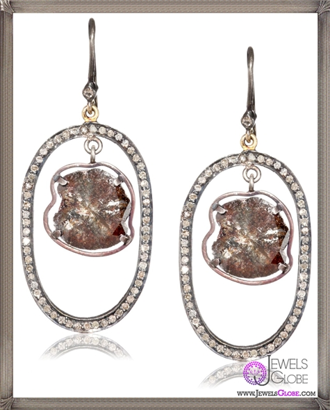 Jordan-Alexander-Pave-Loop-with-Diamond-Slice-on-Diamond-Earwire-Earrings Jordan Alexander Jewelry and Where To Buy Best Designs