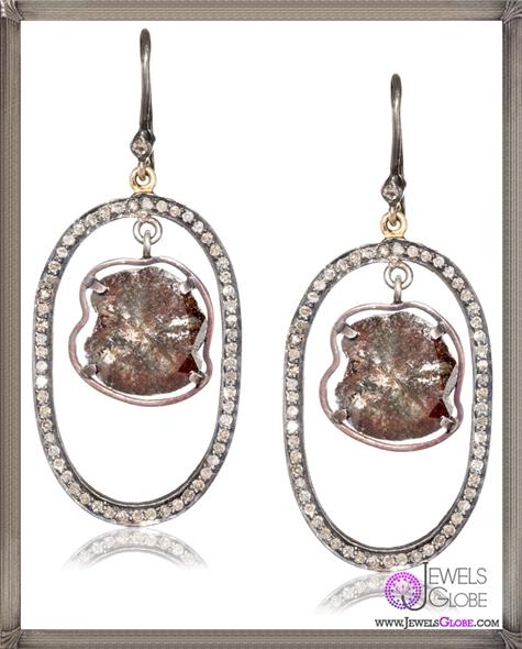 Jordan-Alexander-Pave-Loop-with-Diamond-Slice-on-Diamond-Earwire-Earrings Jordan Alexander Jewelry and Where To Buy Best Designs