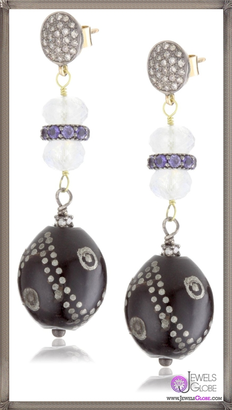 Jordan-Alexander-Prayer-Bead-with-Moonstone-Post-Earrings Jordan Alexander Jewelry and Where To Buy Best Designs
