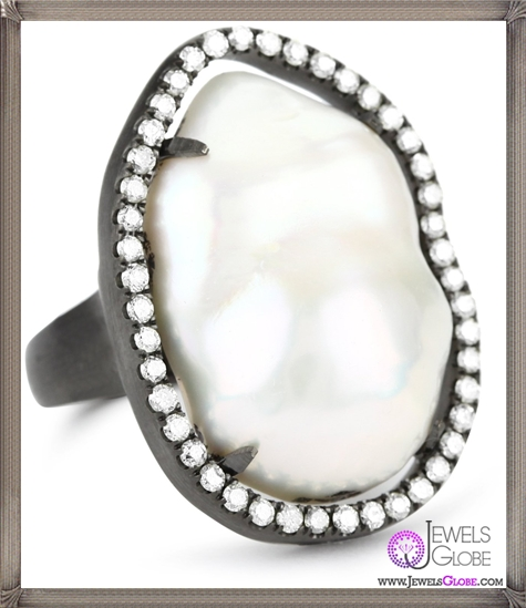 Jordan-Alexander-Silver-with-White-Pearl-Slice-in-Diamonds-Ring Jordan Alexander Jewelry and Where To Buy Best Designs