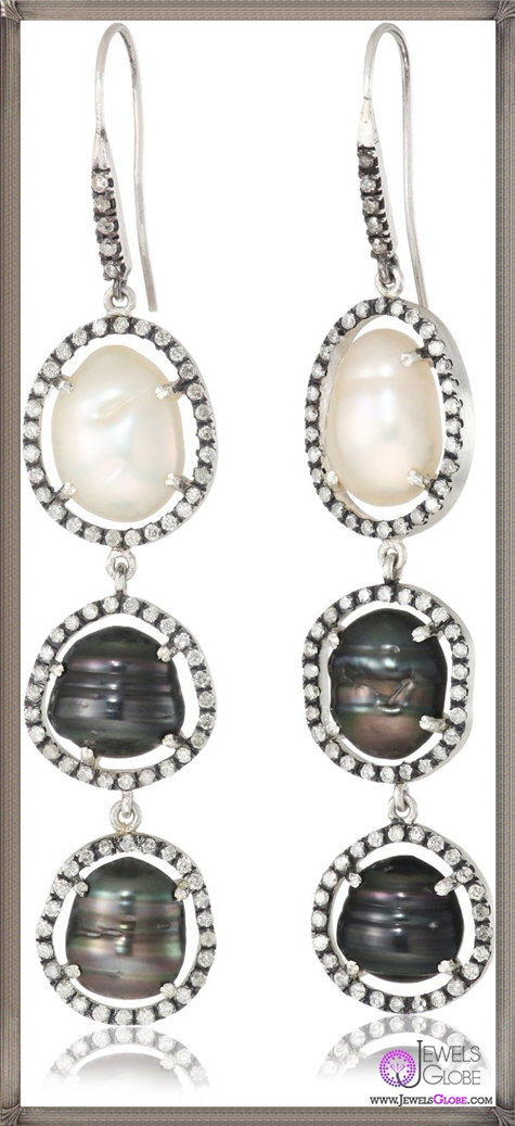 Jordan-Alexander-Slice-Silver-and-3-Drop-Tahitian-Pearl-Slice-and-Diamond-Earrings Jordan Alexander Jewelry and Where To Buy Best Designs
