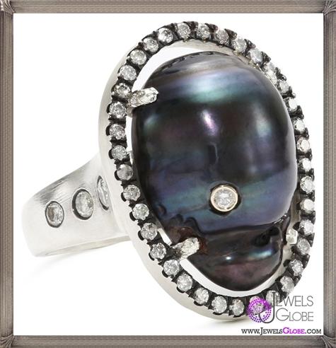 Jordan-Alexander-Slice-Silver-and-Diamond-Stud-Exterior-Navy-Pearl-Slice-and-Diamond-Ring Jordan Alexander Jewelry and Where To Buy Best Designs