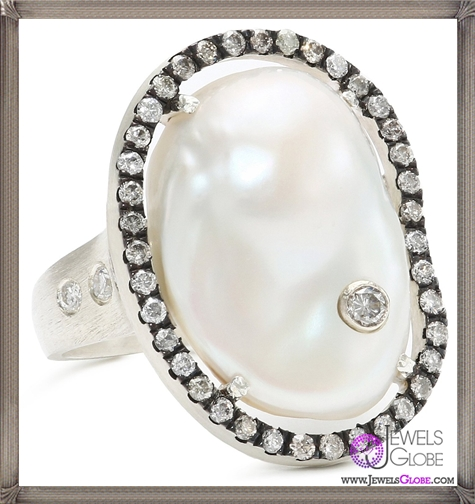 Jordan-Alexander-Slice-Silver-and-Diamond-Stud-Exterior-White-Pearl-Slice-and-Diamond-Ring Jordan Alexander Jewelry and Where To Buy Best Designs