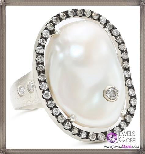 Jordan-Alexander-Slice-Silver-and-Diamond-Stud-Exterior-White-Pearl-Slice-and-Diamond-Ring Jordan Alexander Jewelry and Where To Buy Best Designs