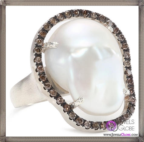 Jordan-Alexander-Slice-Silver-and-Exterior-White-Pearl-Slice-and-Chocolate-Diamond-Ring Jordan Alexander Jewelry and Where To Buy Best Designs