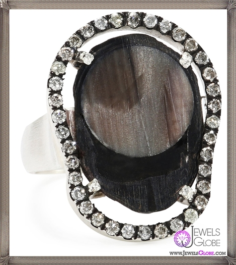 Jordan-Alexander-Slice-Silver-and-Interior-Navy-Pearl-Slice-and-Diamond-Ring Jordan Alexander Jewelry and Where To Buy Best Designs