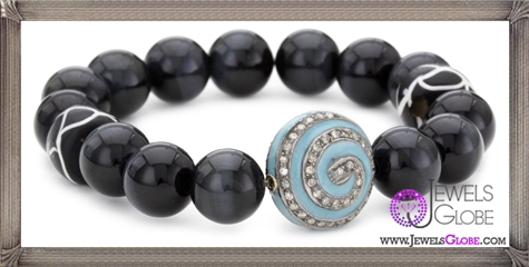 Jordan-Alexander-Tiger-Eye-with-Turquoise-and-Diamond-Pinwheel-Bracelet Jordan Alexander Jewelry and Where To Buy Best Designs
