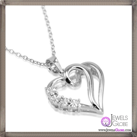 Journey-Diamond-Heart-Necklace-Set-in-Sterling-Silver The 28 Best Diamond Heart Necklaces & Pendants For Women and Buying TIPS
