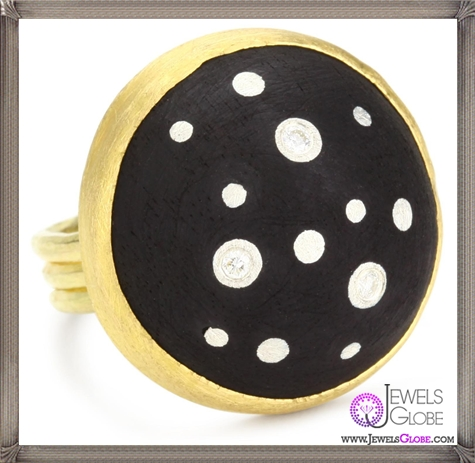 Julieli-Eco-Black-Round-Ebony-with-18k-Gold-and-Pure-Silver-Diamond-Ring Top 7 Tips Before Buying Julieli Jewelry