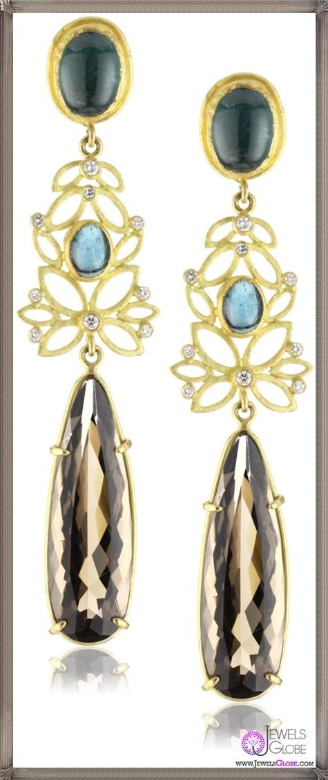 Julieli-Metaform-18k-Gold-Blue-Tourmaline-Smoky-Quartz-and-Diamond-Earrings Top 7 Tips Before Buying Julieli Jewelry