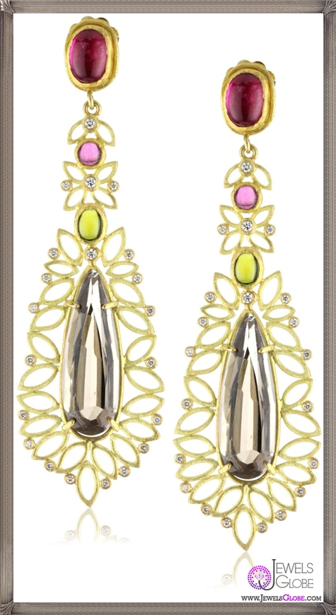 Julieli-Metaform-18k-Gold-Multicolor-Tourmalines-Smoky-Quartz-and-Diamond-Earrings Top 7 Tips Before Buying Julieli Jewelry