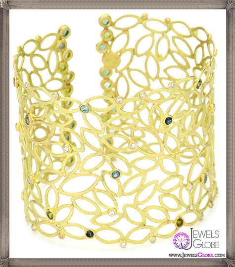 Julieli-Metaform-18k-Gold-Tourmalines-and-Diamond-Lace-Bracelet Top 7 Tips Before Buying Julieli Jewelry