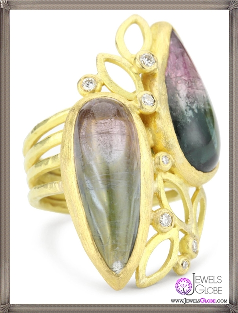 Julieli-One-Of-A-Kind-18k-Gold-Tourmaline-and-Diamond-Bouquet-Ring Top 7 Tips Before Buying Julieli Jewelry