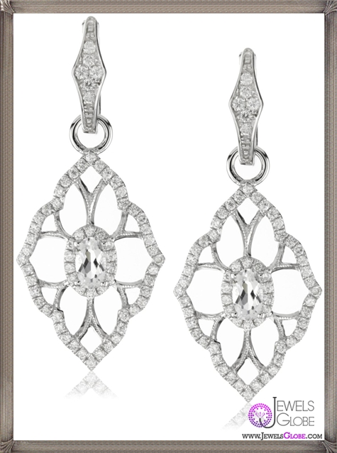 Katie-Decker-Baroque-18k-White-Topaz-and-Diamond-Earrings Best 32 Katie Decker Jewelry Designs for This Year