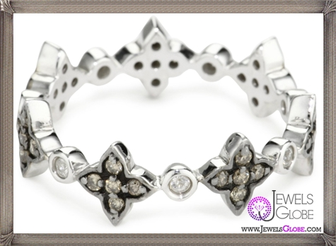 Katie-Decker-Deco-Flower-Brown-Stack-Ring Best 32 Katie Decker Jewelry Designs for This Year
