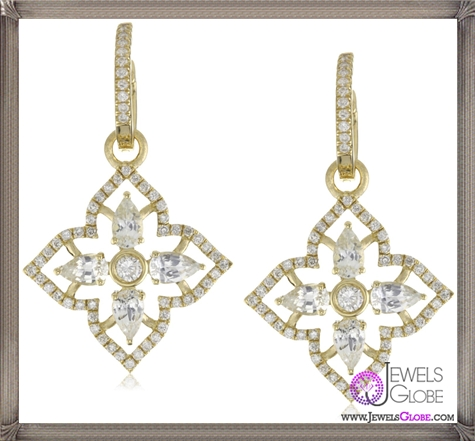 Katie-Decker-Elizabeth-18k-White-Sapphire-and-Diamond-Earrings Best 32 Katie Decker Jewelry Designs for This Year