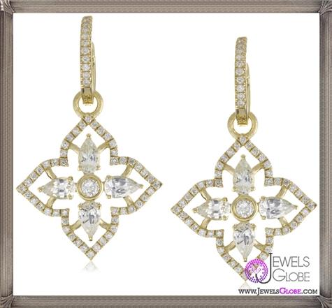 Katie-Decker-Elizabeth-18k-White-Sapphire-and-Diamond-Earrings Best 32 Katie Decker Jewelry Designs for This Year