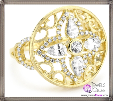 Katie-Decker-Elizabeth-18k-White-Sapphire-and-Diamond-Ring Best 32 Katie Decker Jewelry Designs for This Year