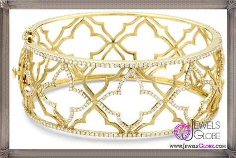 Katie-Decker-Elizabeth-18k-Yellow-Gold-and-Diamond-Cuff-Bracelet Best 32 Katie Decker Jewelry Designs for This Year