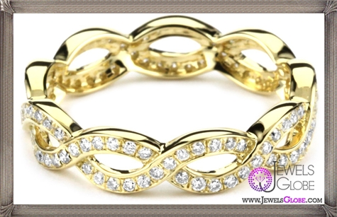Katie-Decker-Eternity-18k-Yellow-Gold-and-Diamond-Twist-Band Best 32 Katie Decker Jewelry Designs for This Year